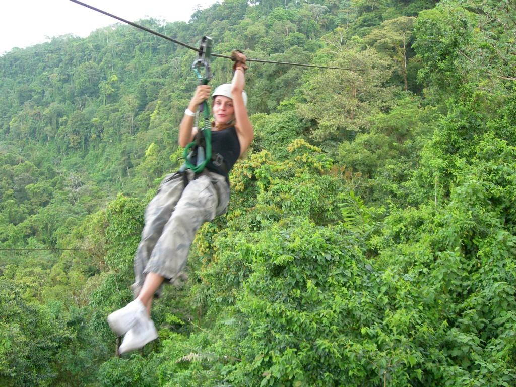 Annette White Ziplining in Costa Rica