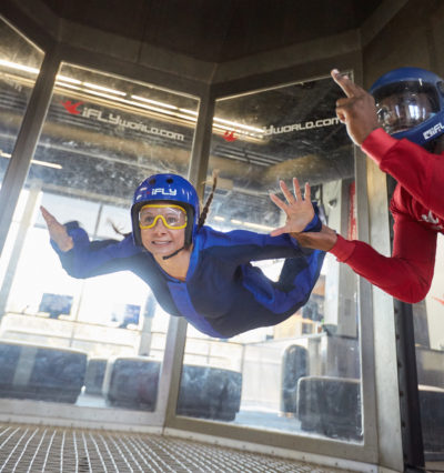 Annette White indoor skydiving in California