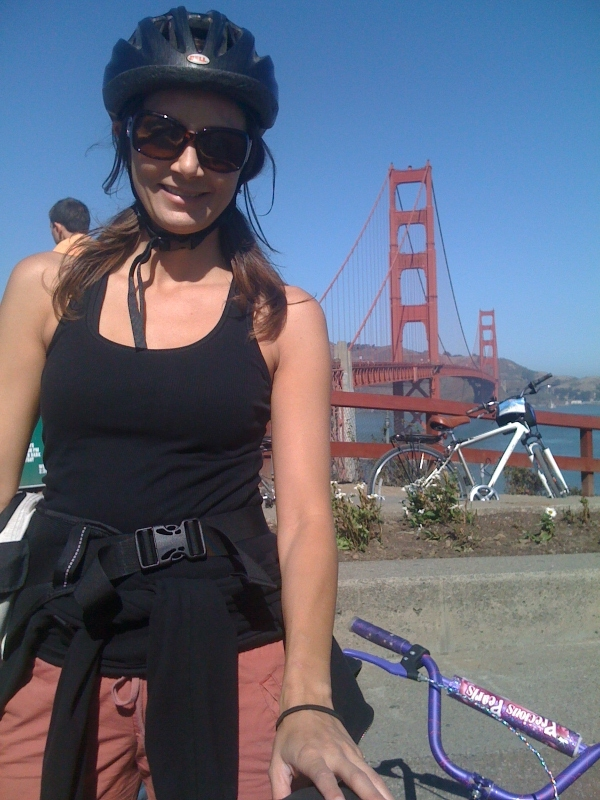 Annette the the Golden Gate Bridge in San Francisco
