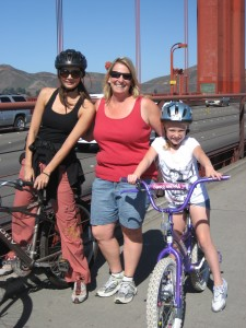 Annette White Bike Across the Golden Gate Bridge