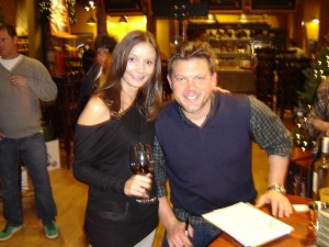 Annette White with Celebrity Chef Tyler Florence