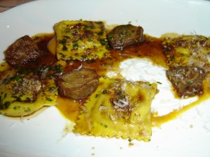 Braised Pork Cheeks with Ravioli