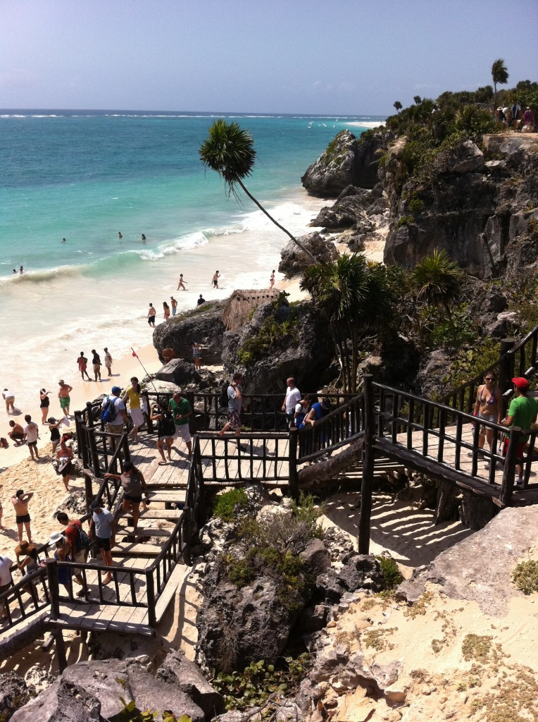 Beach at the Tulum Mayan Ruins in Mexico