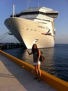 Annette White about to Board a Cruise