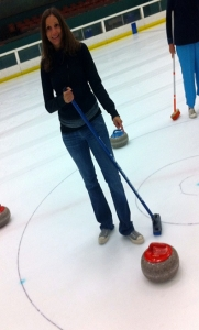 Annette White Learning to Curl