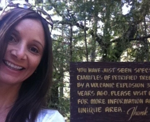 Annette White at the petrified forest