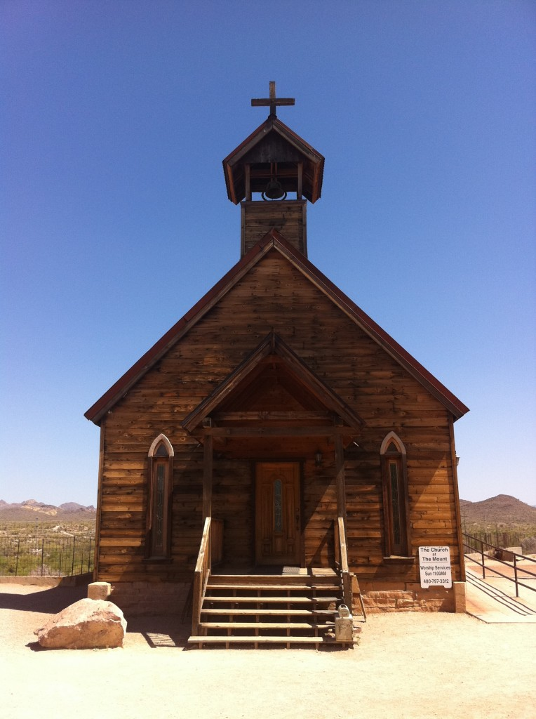 church at goldfield ghost town