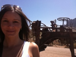 annette white at a ghost town