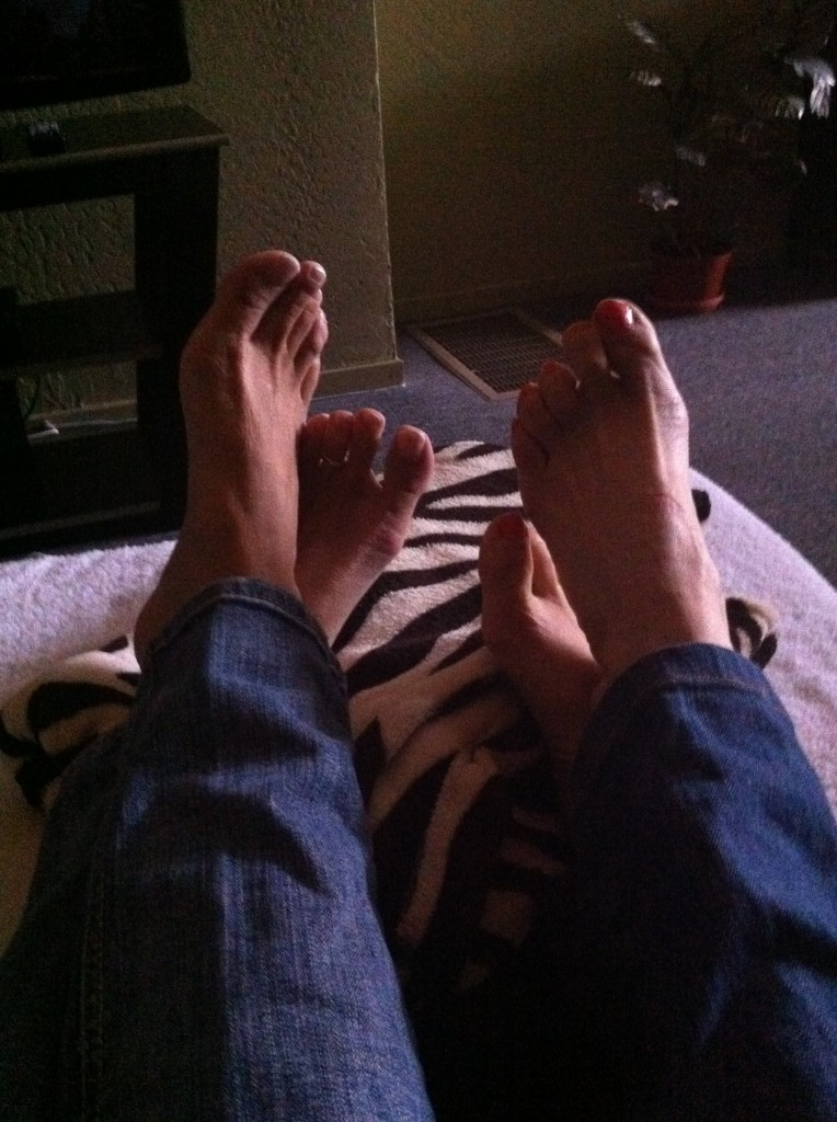 feet waiting for foot massages