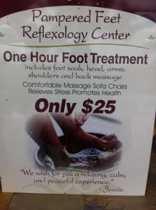 foot massage sign