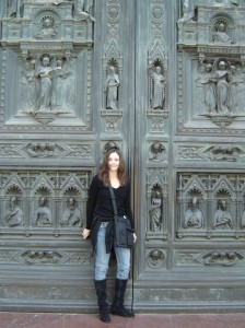 Annette White at Florence Duomo