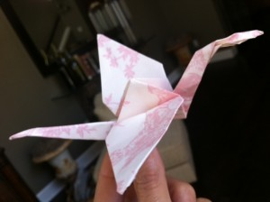 making an origami crane