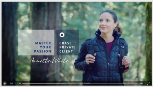A shot of Annette White in a Chase Commercial