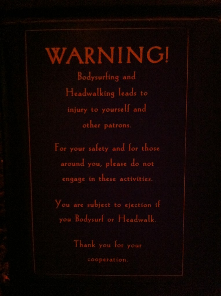 Sign at House of Blues