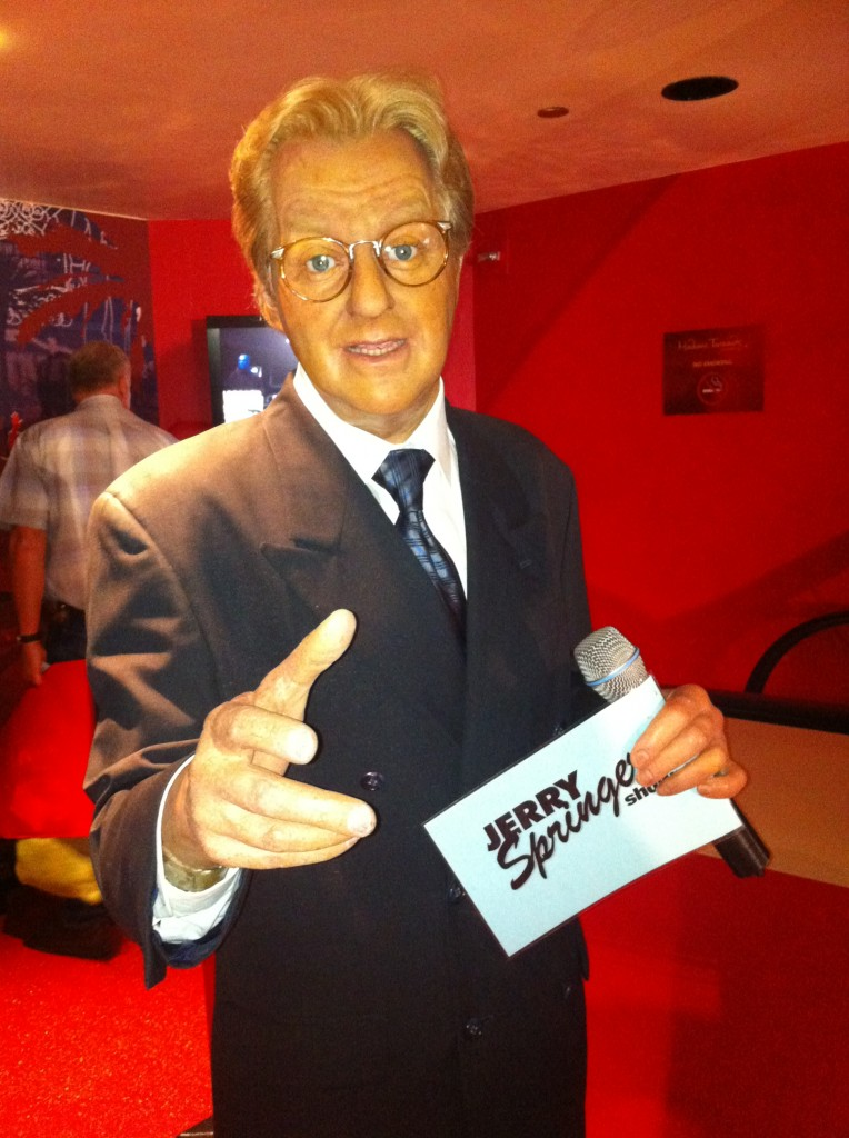 Jerry Springer at Madame Tussauds