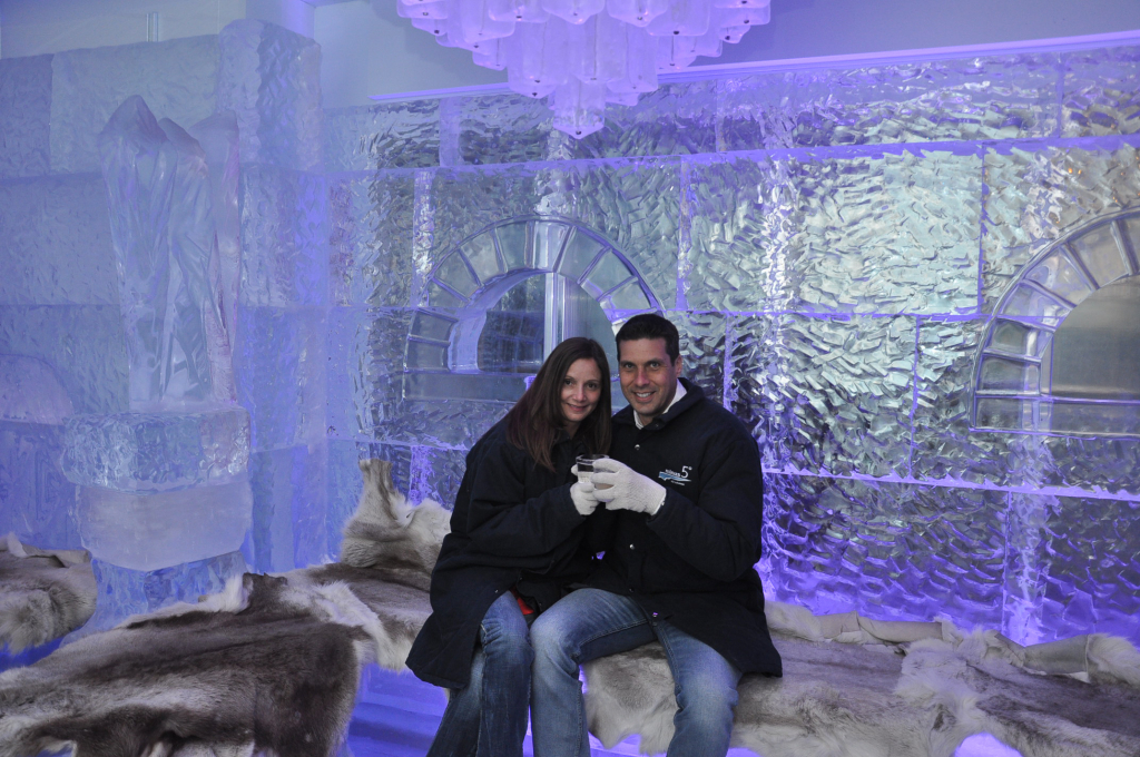 Peter & Annette White at an Ice Bar in Las Vegas