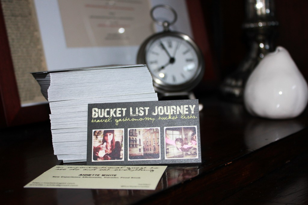 Bucket List Journey Blog Business Cards