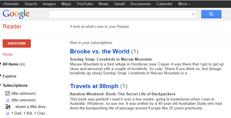 My google reader