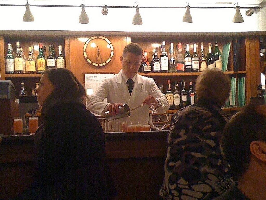 Making Bellinis at Harrys Bar in Venice