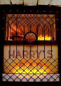 Window at Harrys Bar in Venice