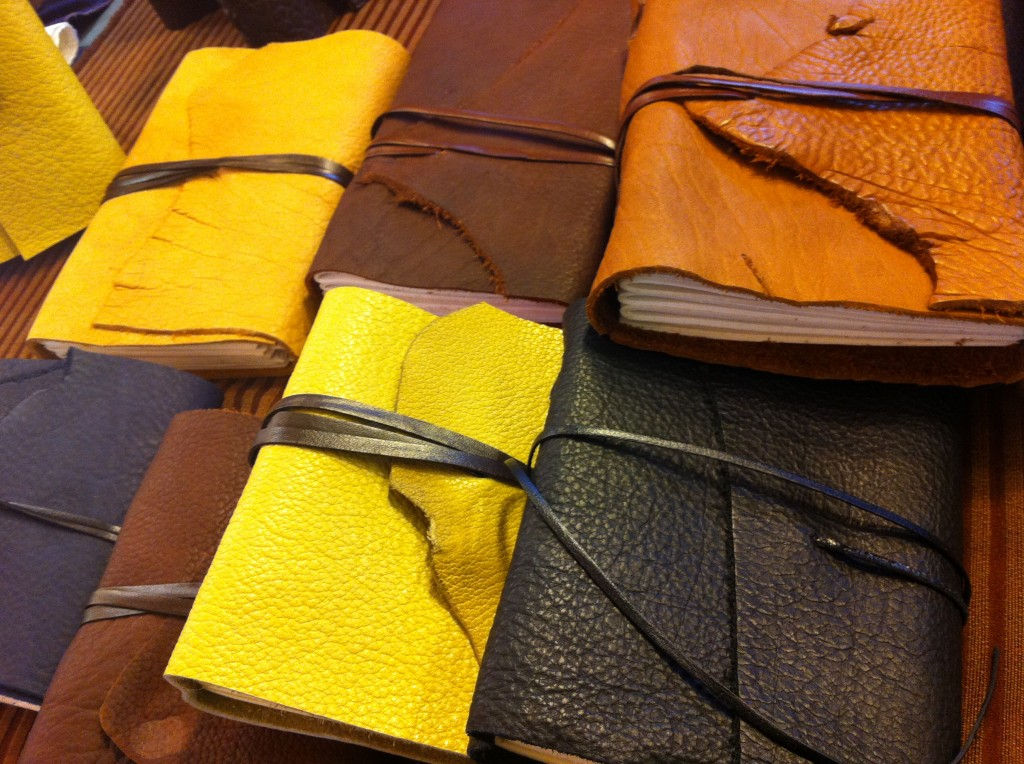 Leather Journals at Pike Place Fish Market