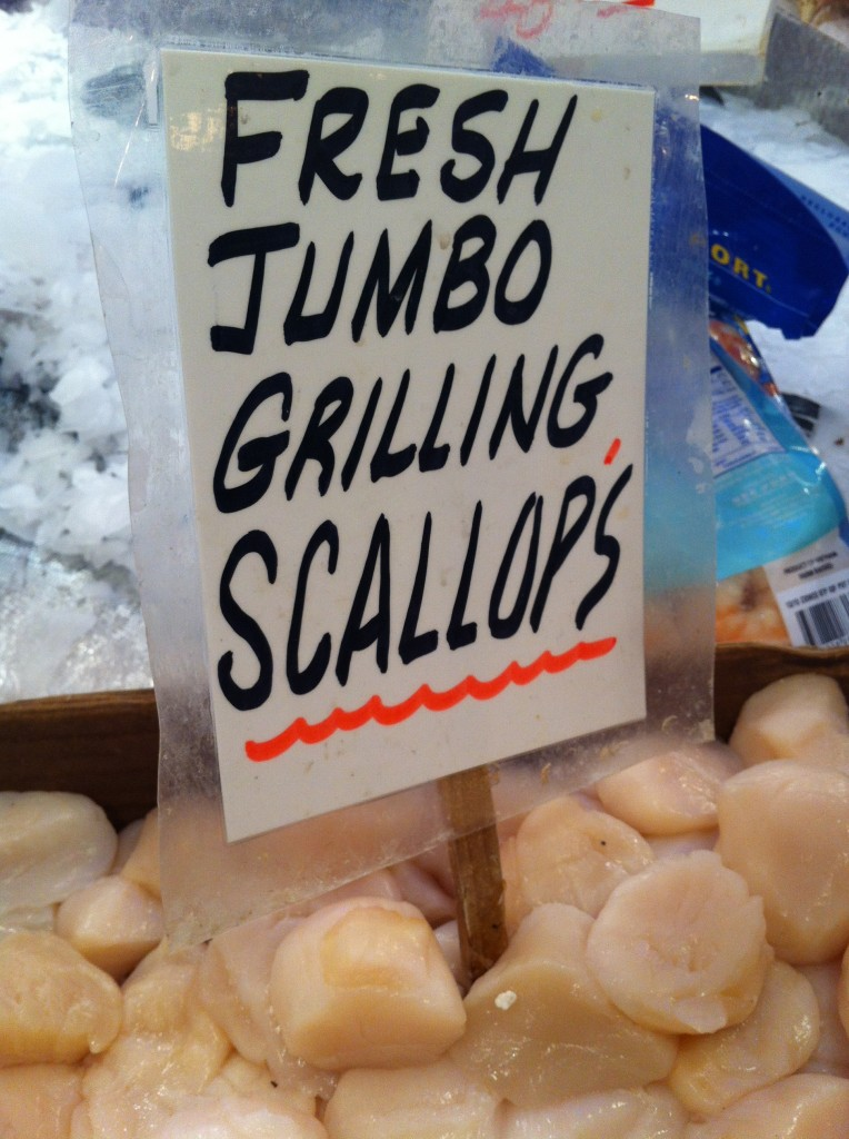 Scallops at Pike Place Fish Market