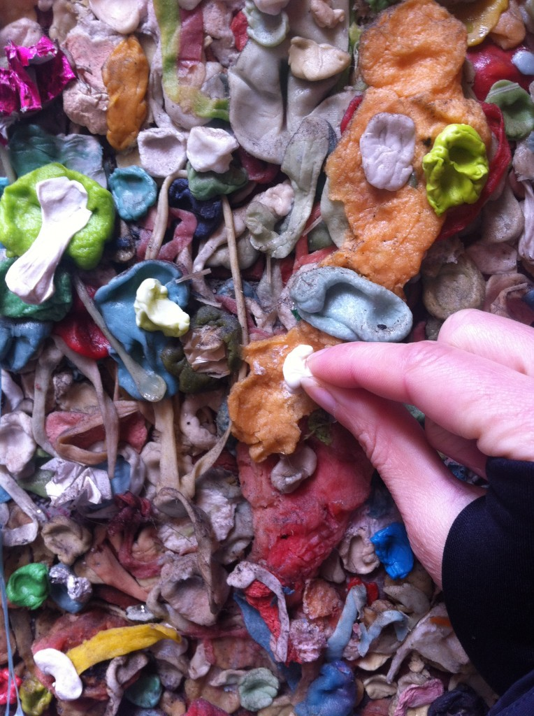 Contribution to the seattle gum wall