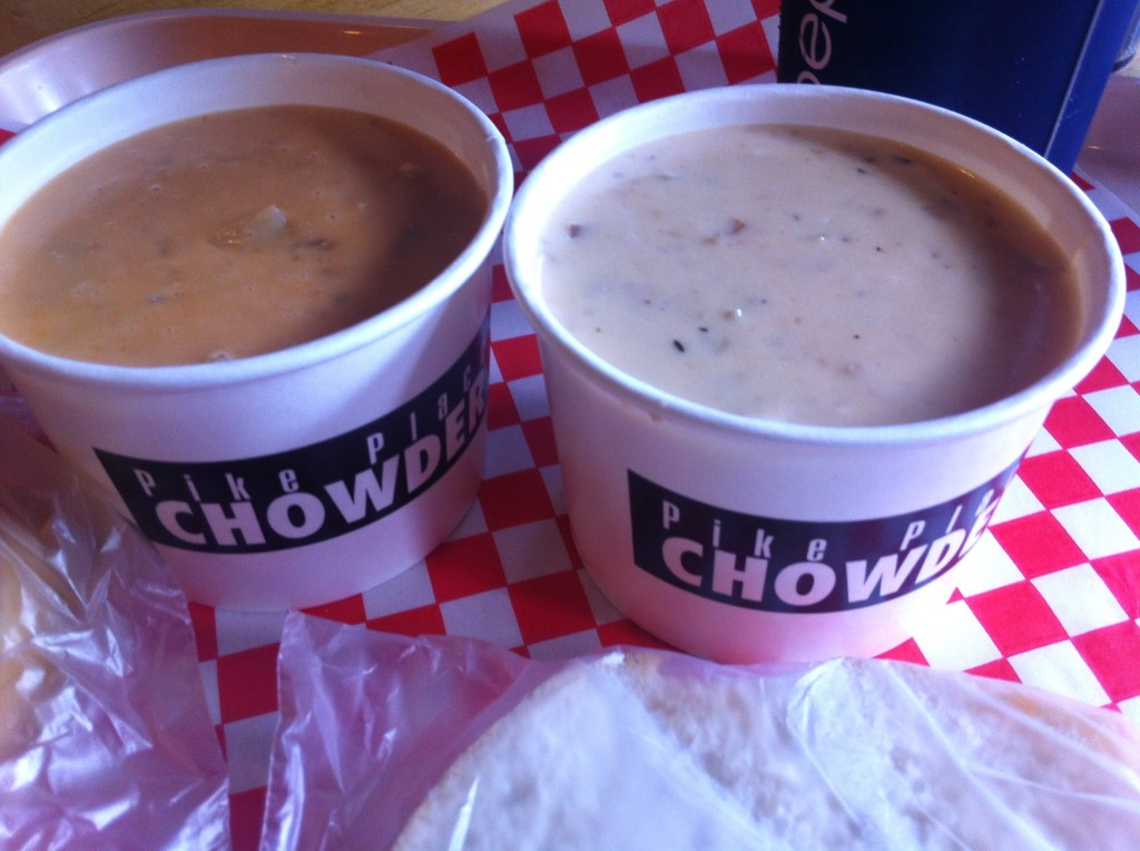 Best Clam Chowder at Pike Place