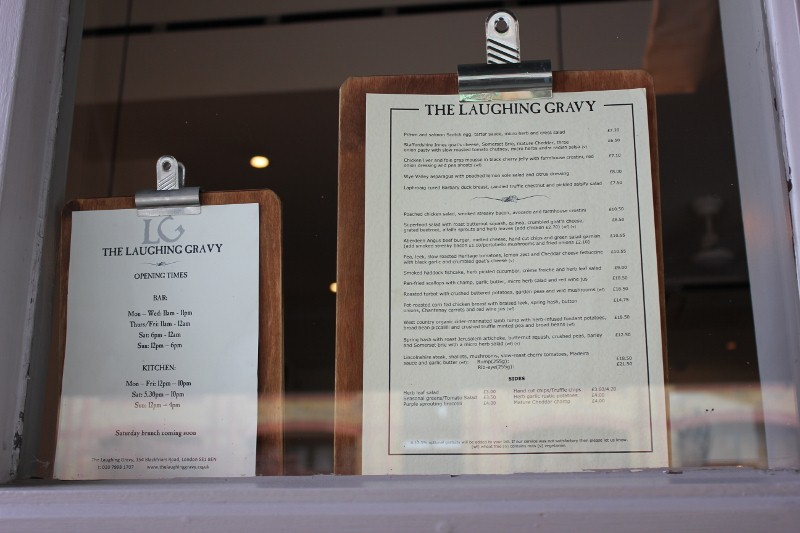 The Laughing Gravy Menu