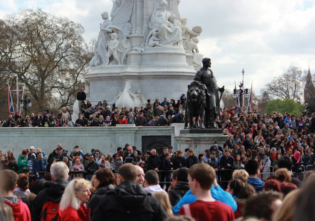 Crowd at Changing of the Guard at Buckingham Palace