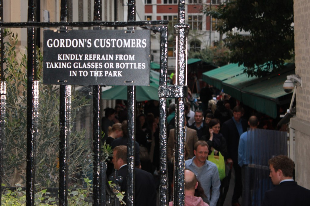Outdoors at Gordon's Wine Bar in London