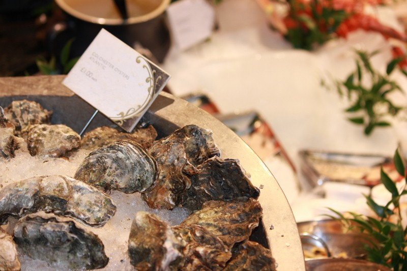 Fresh Oysters at Harrods Food Hall