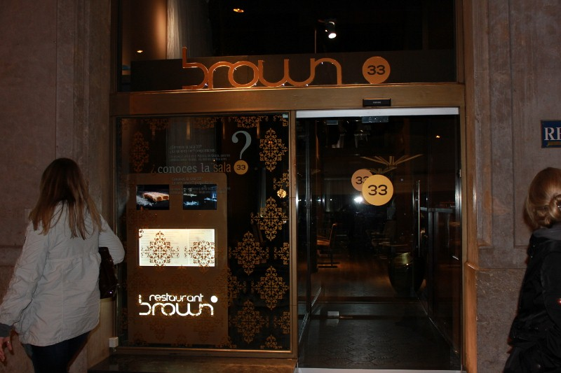 Brown 33 Restaurant in Barcelona