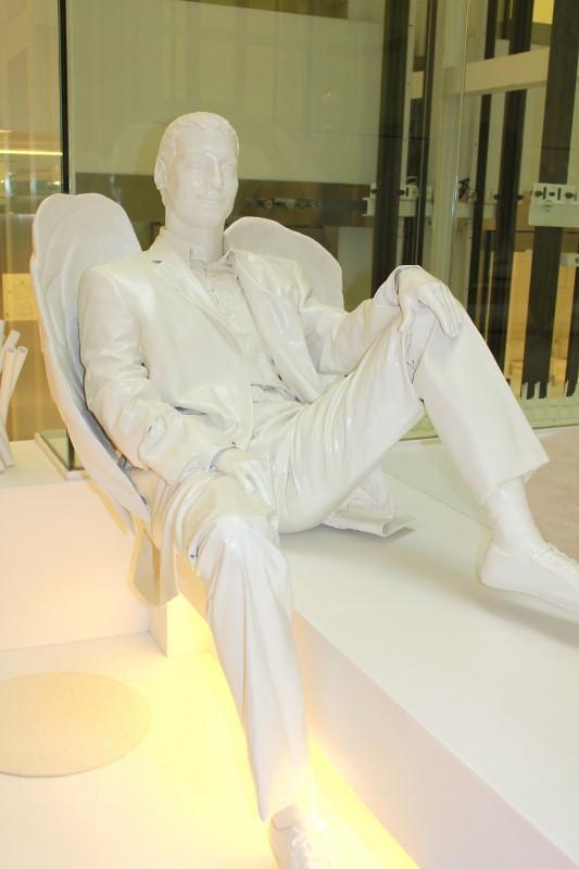 White Statue at Mirror Hotel