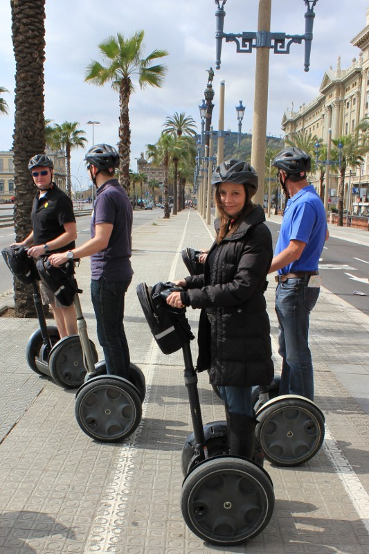 Annette White on a Segway