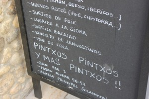 Pintxos Sign