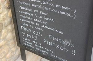 Pintxos Sign