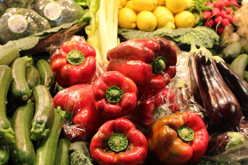 Vegetables at La Boqueria Market