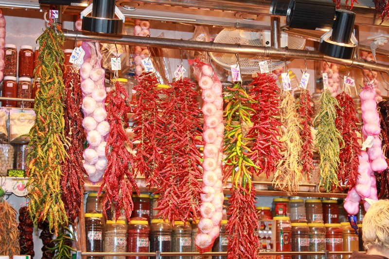 Chiles at La Boqueria Market