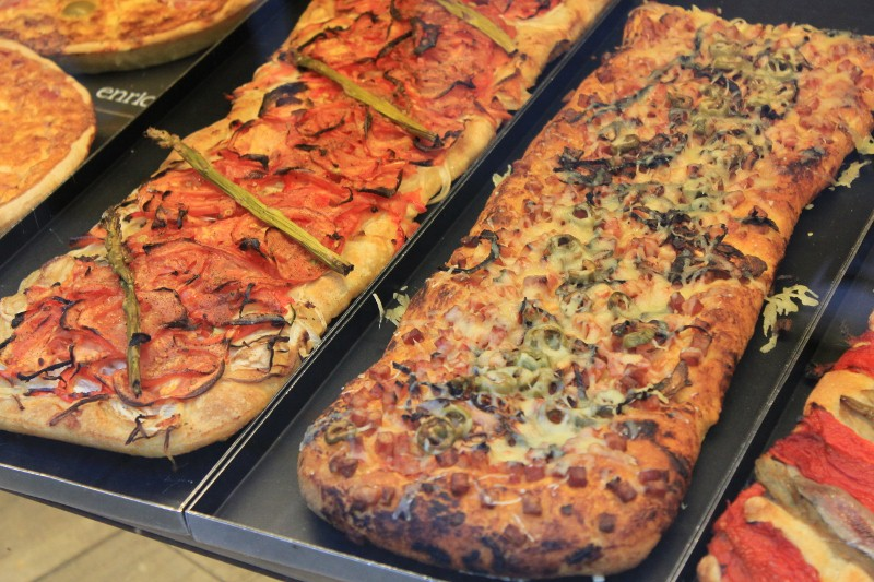 Pizza in Sitges, Spain