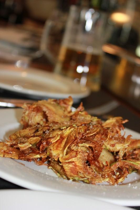 Fried artichoke tapa at Taller de Tapas