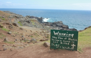Warning Sign at the Maui Blow hole
