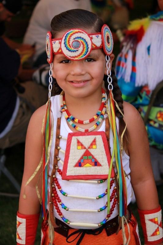 Native American Pow Wow Girl