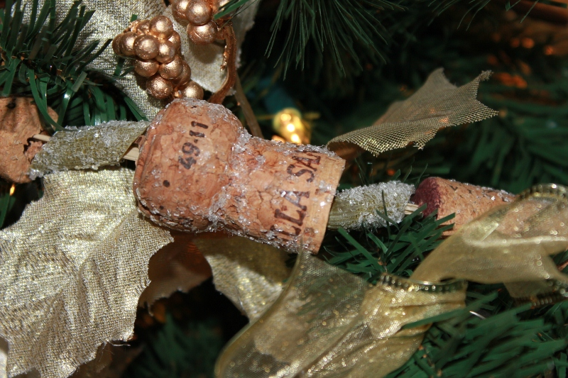 Wine Cork Garland on the Tree