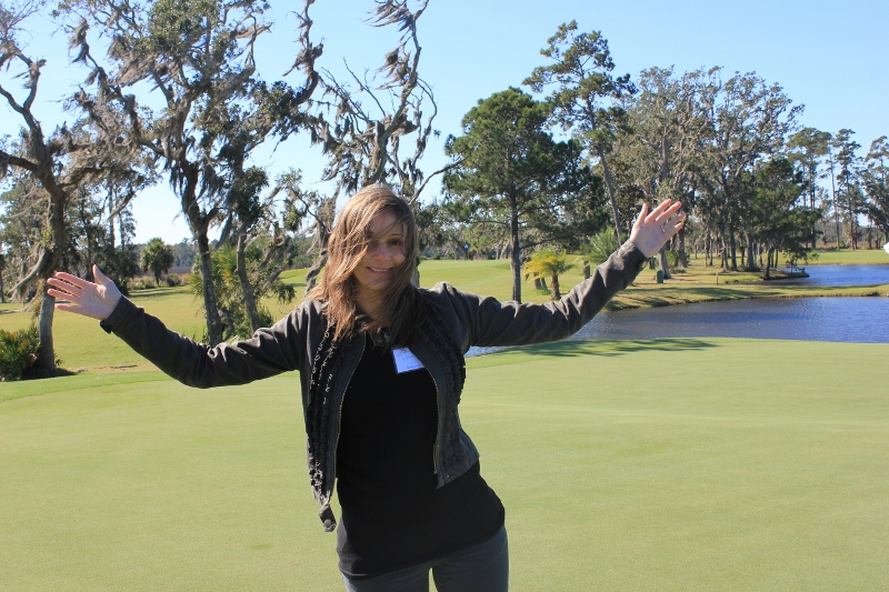 Annette White on the Golf Course in Georgia