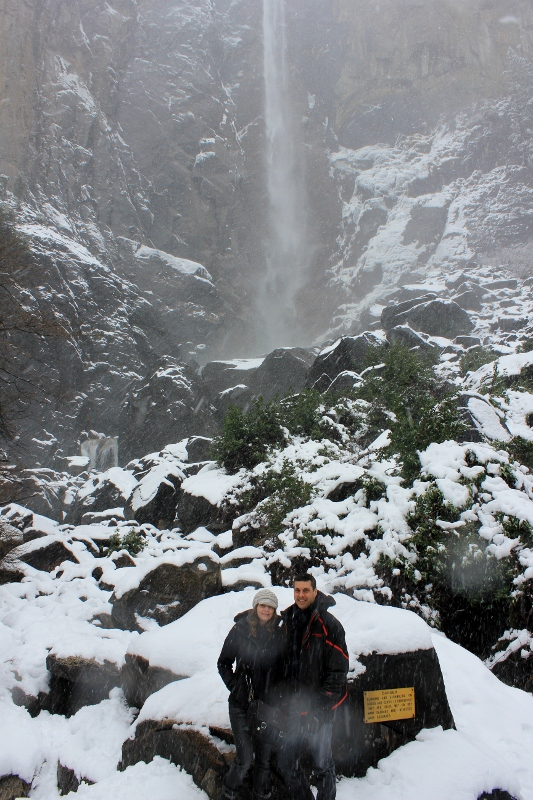 Annette White at Bridalveil Fall in Yosemite Valley