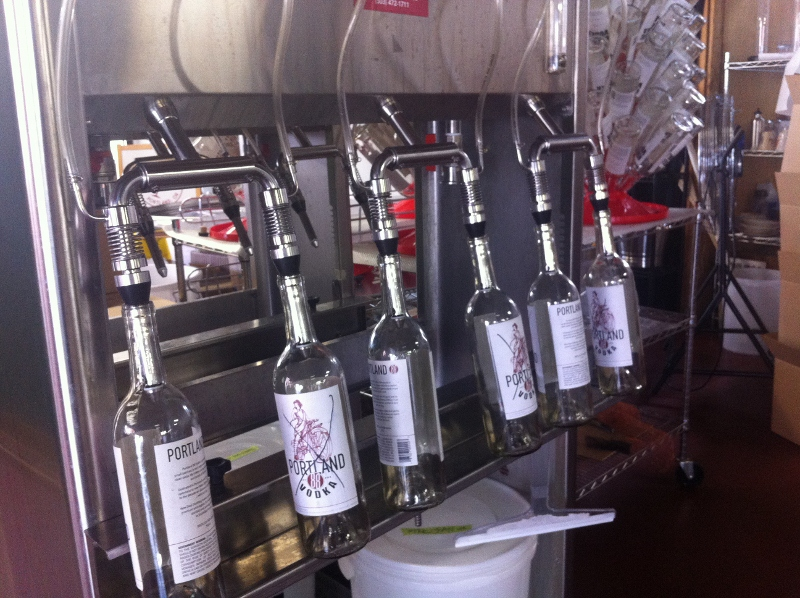 Empty Bottles at New Deal Portland Distillery