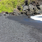 Walk a Black Sand Beach on the Road to Hana in Maui