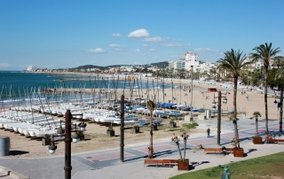 Boats on the Sitges seaside