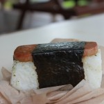 Eat Spam Musubi & Shaved Ice. Hawaiian Delicacies.